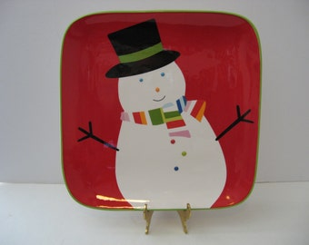 10.5' Holiday Snowman Plate