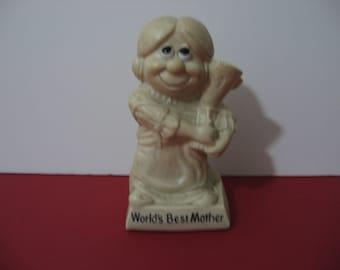 Vintage 1970 R.W. Berries - World's Greatest Mother - Figurine