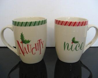Lenox «Holiday» Naughty & Nice porcelaine tasses