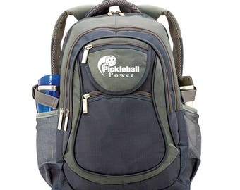 810ad39d4850fa All-In-1 Backpack - Perfect for Pickleball Gear - Will hold multiple  paddles - New - Slate Blue & Grey - PICKLEBALL MARKETPLACE