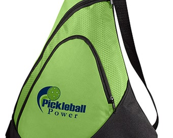 b79aa675e99a75 PICKLEBALL MARKETPLACE -Honeycomb Sling Bag-New/Embroidered-Carry Paddles -  Lime