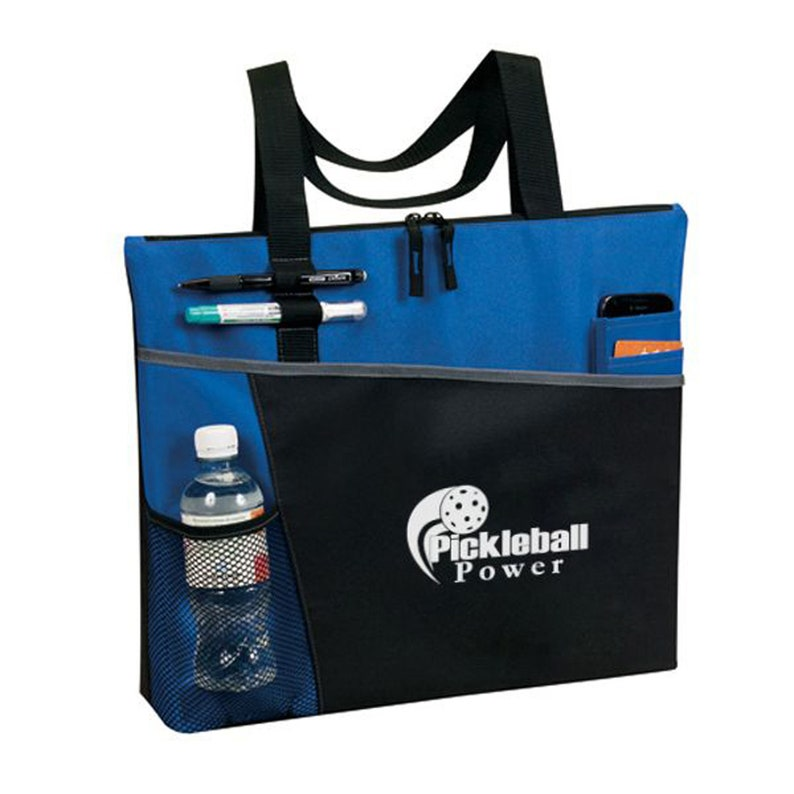 Acension Sport Tote with zippered top is a multi-purpose tote and is perfect for work BlueBlack travel and especially PICKLEBALL