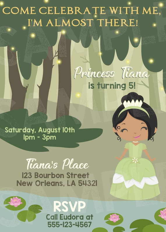 Princess And The Frog Birthday Invite