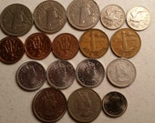 17 belize barbados vintage coins 1973 - 1989 coin lot cents - world foreign collector money numismatic a30