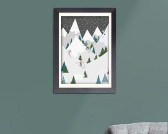 Nordic Ski Print