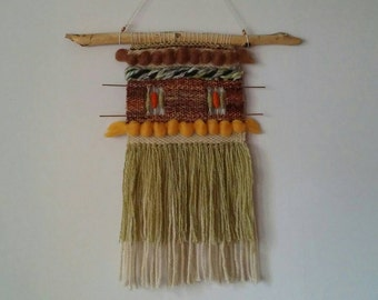 Handwoven wall hanging/Tapestry/Handloom/Weaving/Woven/Earthy shades