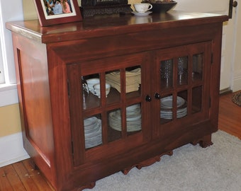 Large Buffet/Sideboard with Glass-Panel Doors