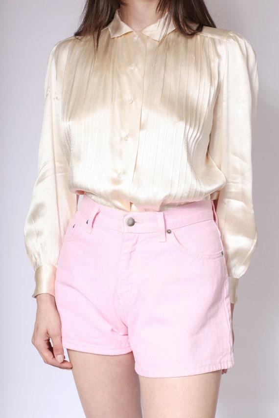 Pink Denim High Waisted Shorts