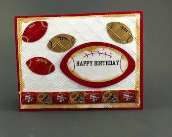 san francisco 49ers cardsan francisco 49ers birthday cardcard for san francisco 49ers fansan frandisco 49ers giftsan francisco 49ers