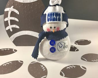 Indianapolis Colts,Snowman,NFL,NFL Colts,Gift for Colts fan,Indianapolis Colts Clothing,Colts decor,Colts gift,Colts accessory,Colts