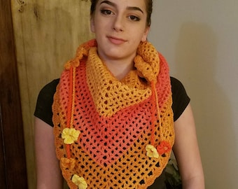 Crocheted Triangle Scarf