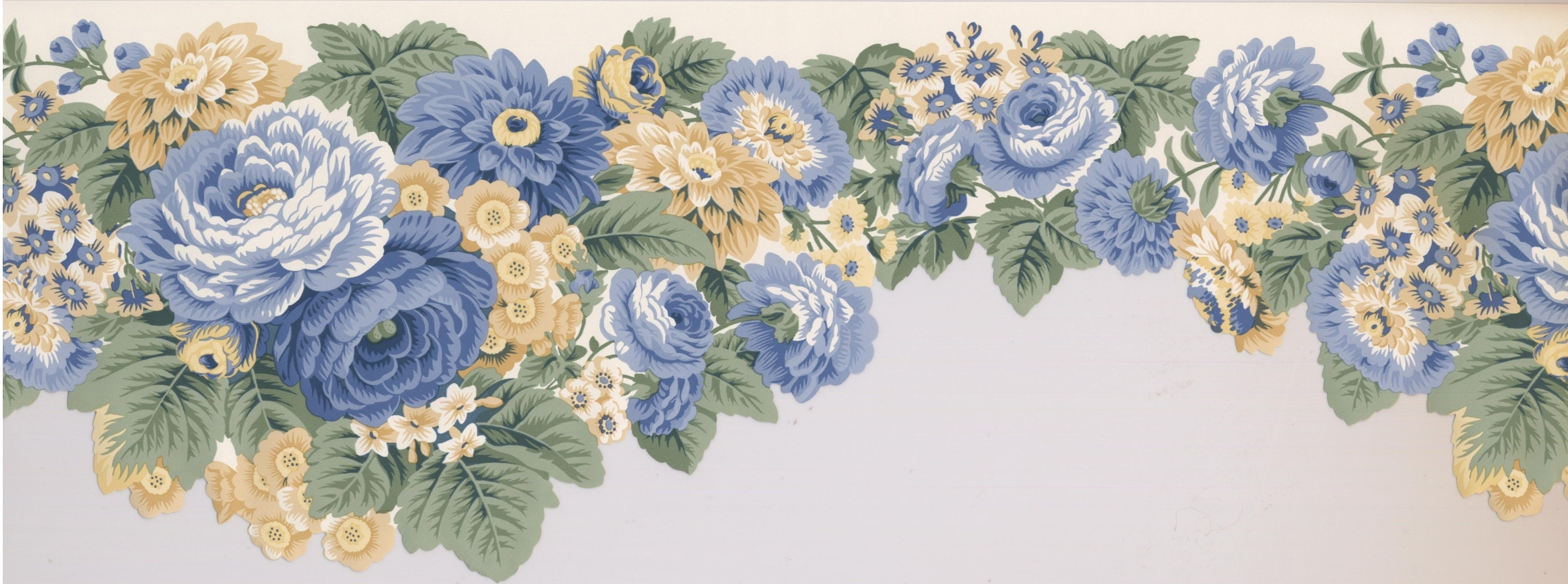 Prepasted Wallpaper Borders Floral Wall Paper Border 5506320 Etsy