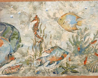 Blue Angel Fish Wallpaper Border 8435 KT