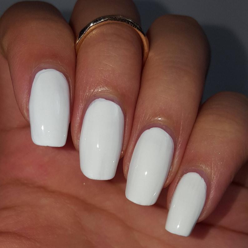 Classic vernis à ongles blanc Creme Indie Nail laque 5-gratuit   Etsy