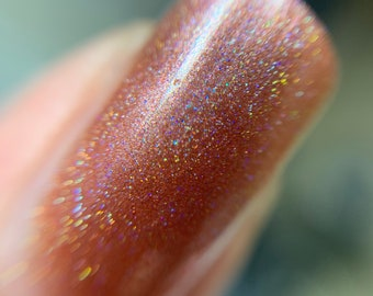 Bronze and Holographic Nail Polish DUO 5-Free Handmade Indie Nail Polish Animal Cruelty-Free Cute Gifts for her Palm-Free