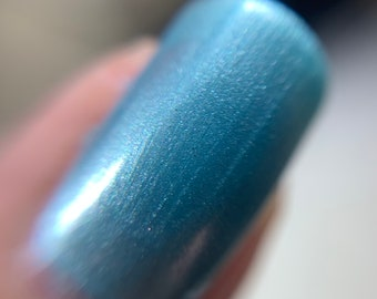 Pearl Sky Blue Nail Polish 5-Free Indie Nail Polish Animal Cruelty-Free Vegan Classy Cute Gifts for her Palm-Free