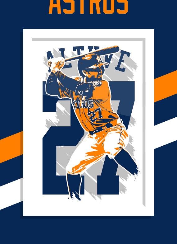 Jose Altuve Houston Astros Poster FREE US SHIPPING