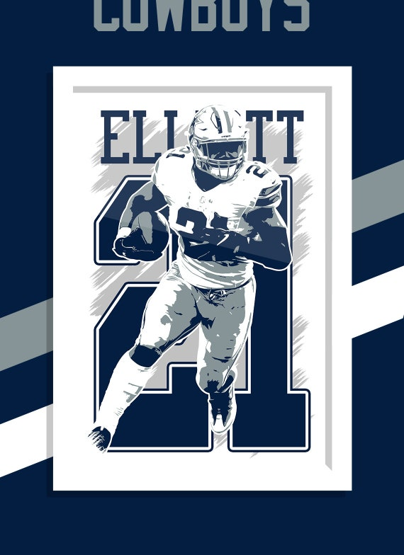 Mulitple Sizes Available ** EZEKIEL ELLIOTT ** POSTER 002