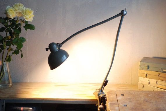 471 Architect's lamp articulated lamp clamping lamp Kaiser Idell 6726 Original preservation Christian Dell Bauhaus clamp hinged lamp vintage