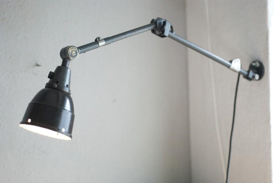 222 Vecchia Lampada Da Tavolo Blu Articolato Midgard