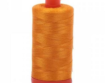 dec6e4b3edc Yellow Orange Aurifil Mako Cotton Thread Color 2145