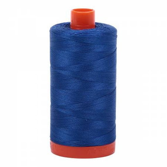 Medium Blue 2735 New AURIFIL Large Spool Thread 50 wt 1422 yards