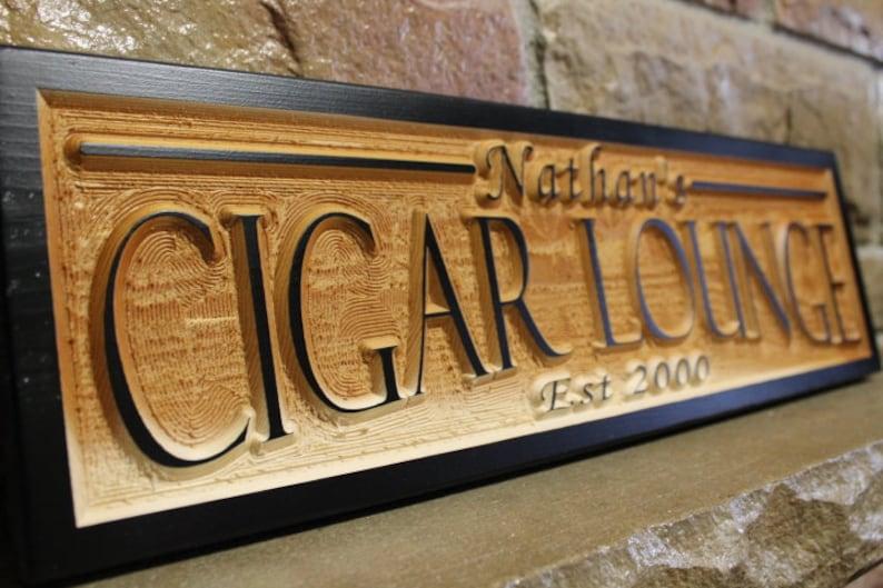 rustic wedding decor personalized cigar lounge sign smoking room decor groomsmen gift last name sign custom bar sign
