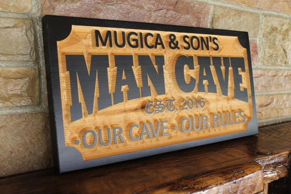 Cigar Lounge Personalized Custom Carved Wood Sign Rustic Plaque Bar Signs Pub