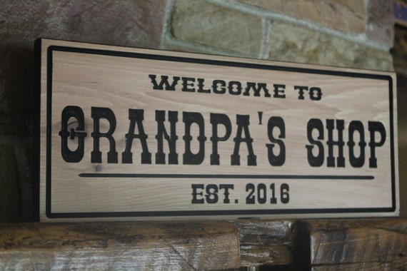 custom wood signs rustic wall decor personalized sign mens | Etsy