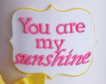 Sunshine Cake Plaque