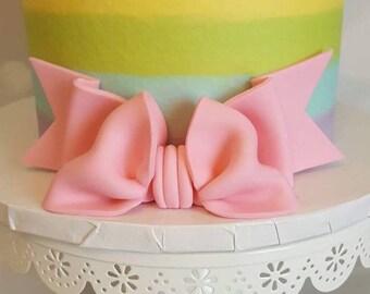 Bow Cake Topper - Gumpaste Fondant Custom