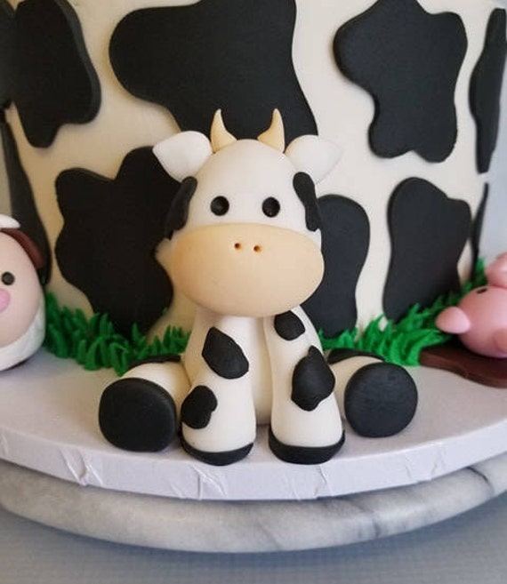Cow Cake Topper Etsy