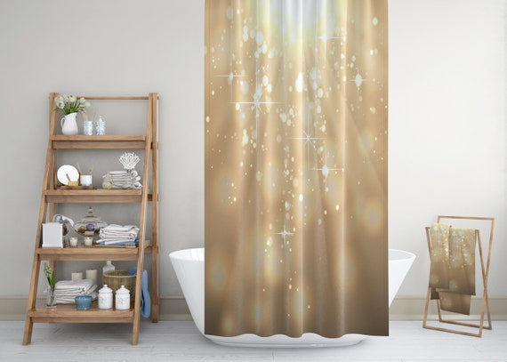 Gouden glitter douchegordijn sparkly badkamer gordijn glam etsy