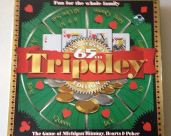 Vintage 1997 TRIPOLEY game 65th anniversary edition by Cadaco games.