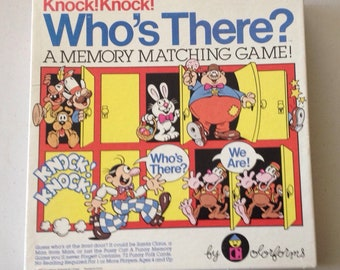 Vintage 1982 Knock! Knock! Who's there game , a memory matching game