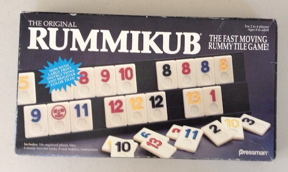 Vintage 1990 Rummikub Game By Pressman Games Etsy