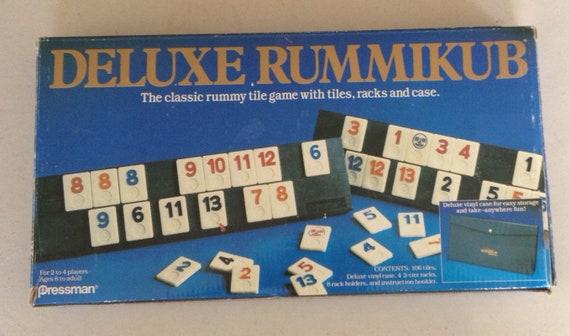 Vintage 1990 Deluxe Rummikub By Pressman Games Etsy