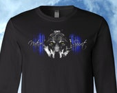 Wolf Native Spirt Shirt, Long Sleeve