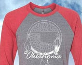 Oklahoma Dreamcatcher Baseball 3/4 Sleeve Shirt