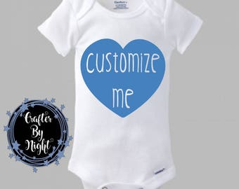 Custom Onesie, Custom Bodysuit for Baby