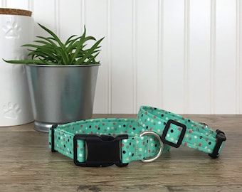 Mint Green Polka Dot Dog Collar 4b5f0a19765c7
