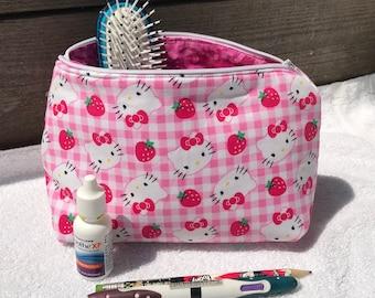 b213d1ebc5e Hello Kitty Cosmetic Makeup Bag
