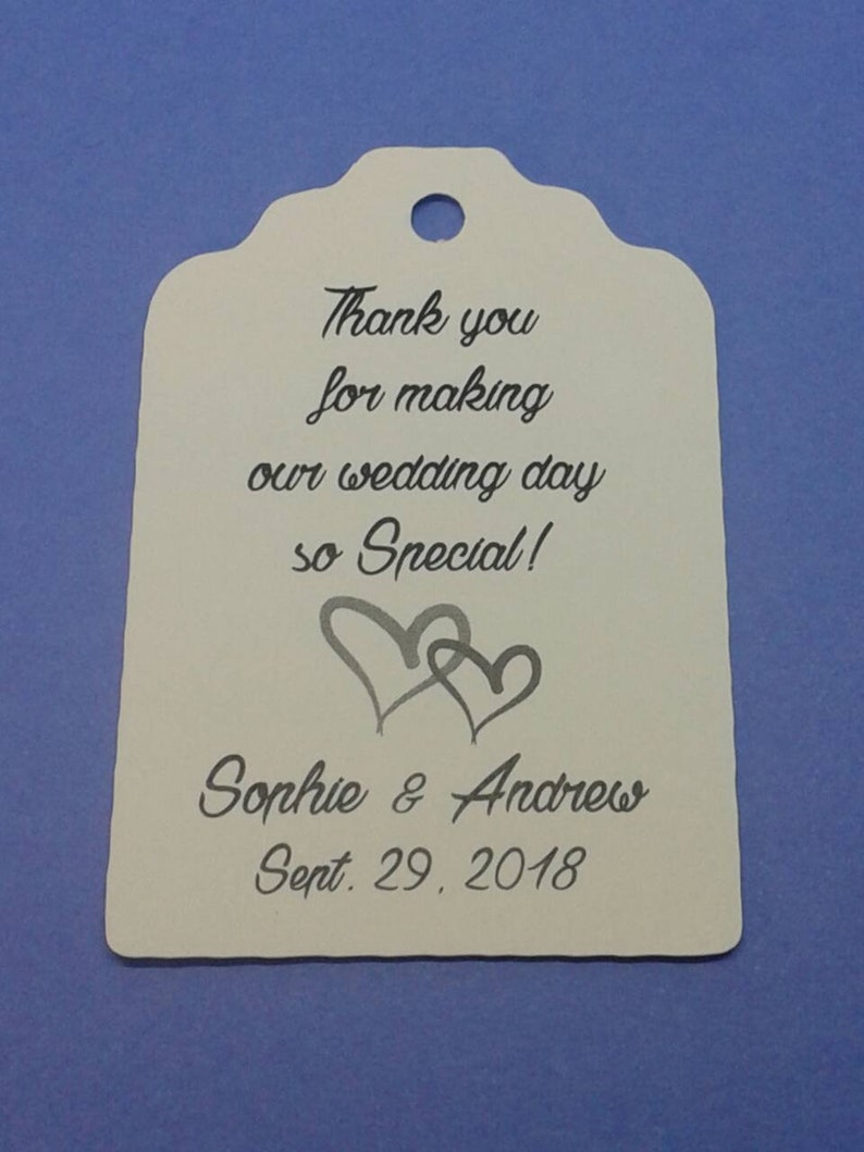Gift tags tags 2 1116  die cut tags Custom FULL color wedding tag order 25 tags favour tags