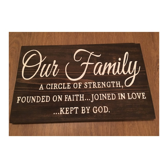 our family bible quote wood sign bible verse family sign