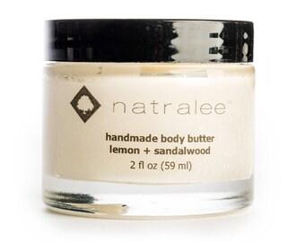 Lemon + Sandalwood   Body Butter   All Natural