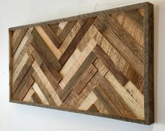 reclaimed wood wall art etsy