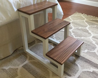 Customizable Color/Wood 3 Step Open Air Pet Steps