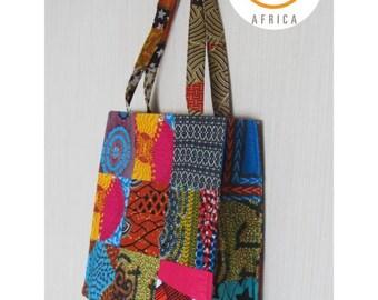 bf6f96dc7c77 African Patchwork Bag  Shopper Bag  Ankara Bag  African Print Tote Bag Sasa  Bag