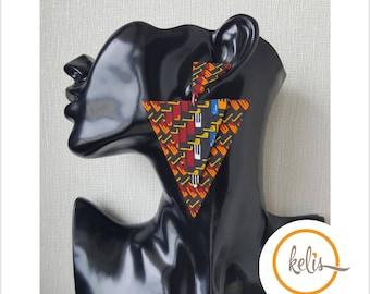 Sale !!Ankara Earrings / African Print Earrings /Handmade Earrings / African earrings/ Finah