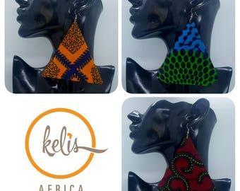 Price Slash!!SALE!!!/Ankara Earrings / African Print Earrings /Handmade Earrings / African earrings/ Ajo